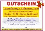 Geschenkgutschein Luxemburg/Ardennen