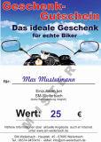 Bikergutschein 25 EUR