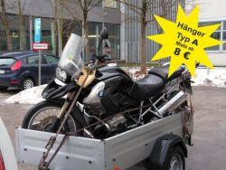 Verleih Motorrad, Hänger und Zubehör