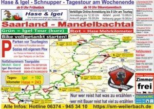 Mandelbachtal Tourkarte