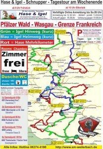 Tourkarte Wasgau