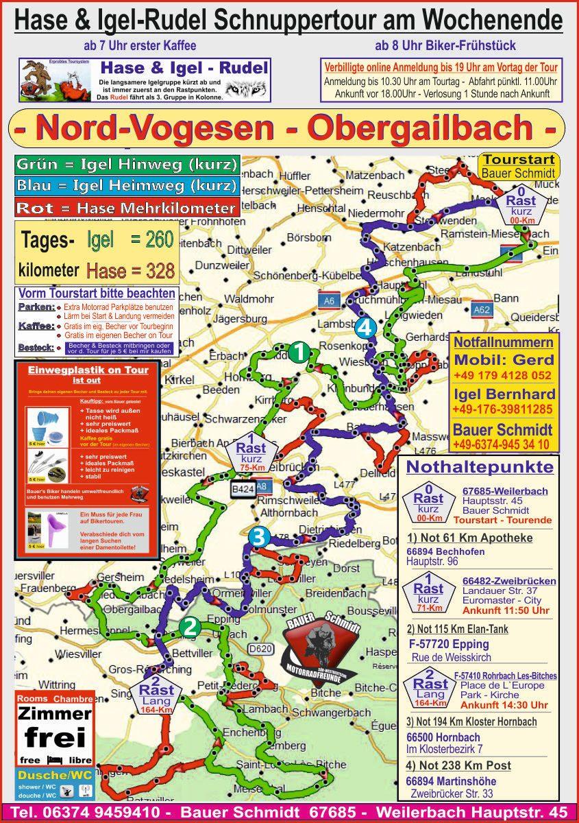 Motorradtour - Nordvogesen, Vollmunster, Obergailbach