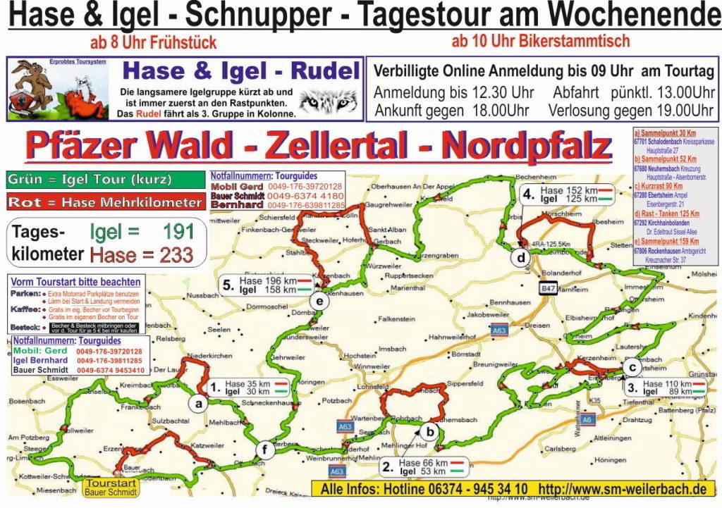Tourkarte Zellertal