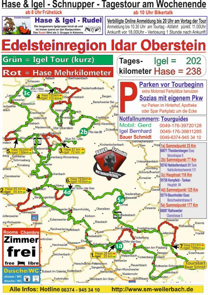 Tourkarte Idar-Oberstein
